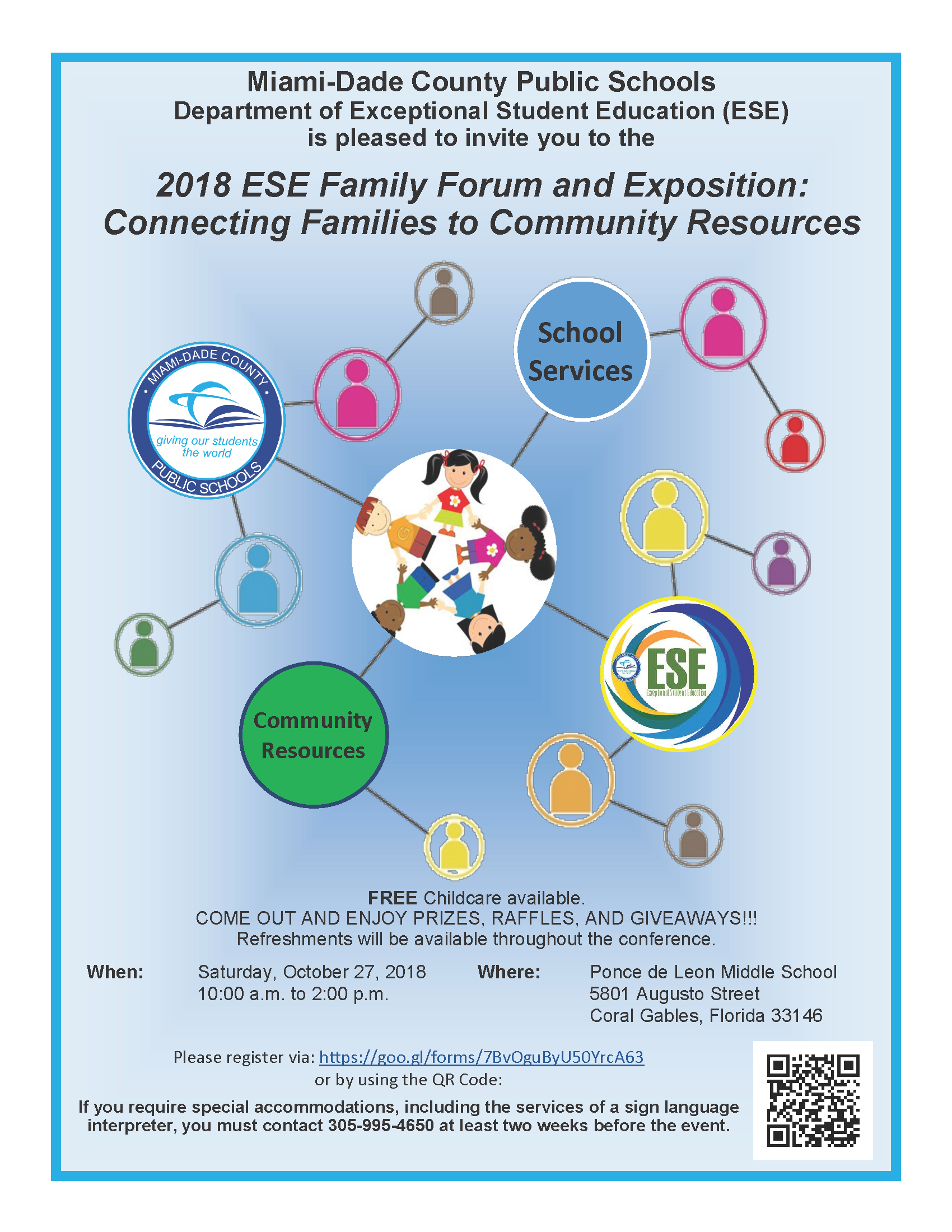 2018 Exceptional Student Education (ESE) Family Forum and Exposition @ Ponce de Leon Middle School